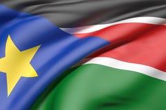 South Sudan flag waving Stock Image