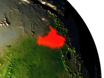 South Sudan from space Royalty Free Stock Image
