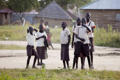 South Sudanese school children Royalty Free Stock Photography