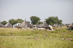 South Sudanese village Royalty Free Stock Images