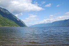 South of the Teleckoe lake. Teleckoe lake near Barnaul town, Altay, Russia Stock Photos