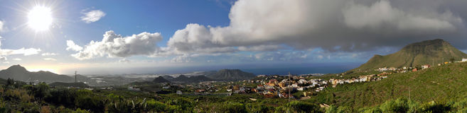 South Tenerife. Panorama of the South side of Tenerife, Spain Royalty Free Stock Photos