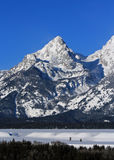 South Teton Mountain Peaks of the Grand Tetons in Grand Tetons National Park in Wyoming Royalty Free Stock Photography