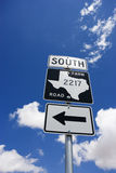 South Texas farm road sign. Stock Photo