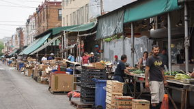 South 9th Street Italian Market in Philadelphia stock images