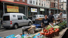 South 9th Street Italian Market in Philadelphia Royalty Free Stock Images