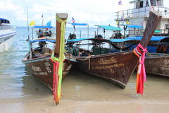 South Thailand - Long tail boats Stock Photo