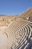 South Theater at Jerash ruins (Jordan) Royalty Free Stock Photo