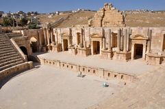 South Theater at Jerash ruins (Jordan) Stock Images