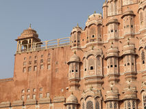 South tower of Hawa Mahal, Jaipur, India. South tower of Hawa Mahal or The Wind Palace in Jaipur, Rajasthan, India Stock Photo