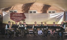 South tyrol band musicians play traditional songs from Alto Adige Stock Images
