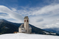 South Tyrol church in winter Stock Photos