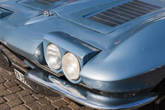South tyrol classic cars_2015_Chevrolet Corvette Coupe Headlight Royalty Free Stock Photos