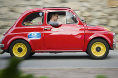 South tyrol classic cars_FIAT 500 Stock Image