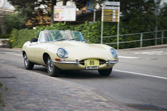 South tyrol classic cars_Jaguar E cabrio Stock Photography