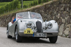South tyrol classic cars_2014_Jaguar XK 120 Roadster_3 Stock Image