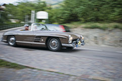 South tyrol classic cars_MERCEDES 300 SL Roadster Stock Photography