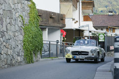 South tyrol classic cars_MERCEDES 190 SL Stock Photos