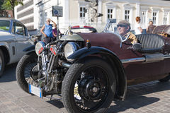 South tyrol classic cars_2015_Morgan three wheeler_front side vi Royalty Free Stock Photography