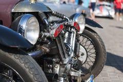 South tyrol classic cars_2015_Morgan three wheeler_frontal Royalty Free Stock Photography
