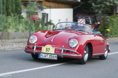 South tyrol classic cars_PORSCHE 356 A Speedster. 2013 the traditions the South Tyrol classic to the 28 held times Stock Image