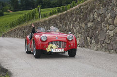 South tyrol classic cars_2014_Triumph TR3 roadster Stock Photography