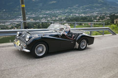 South tyrol classic cars_2014_Triumph TR 3 Stock Images