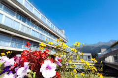 South Tyrol, Italy, residencial building view. Royalty Free Stock Image
