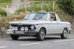 South Tyrol Rallye 2016_BMW 2002 Targa Convertible Royalty Free Stock Photo