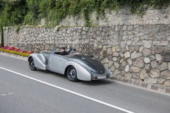 South Tyrol Rallye 2016_Bugatti 57 C Kompressor Stelvio Cabrio_r Royalty Free Stock Image