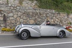 South Tyrol Rallye 2016_Bugatti 57 C Kompressor Stelvio Cabrio_s Royalty Free Stock Images