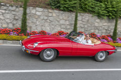 South Tyrol Rallye 2016_Jaguar E-Type Roadster Stock Photos