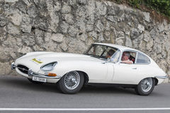South Tyrol Rallye 2016_Jaguar E-Type white Royalty Free Stock Image