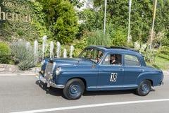 South Tyrol Rallye 2016_Mercedes Ponton 190_blue Royalty Free Stock Photo