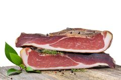 South Tyrolean bacon royalty free stock images