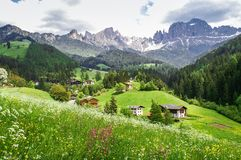 South Tyrolean mountain landscape Royalty Free Stock Images