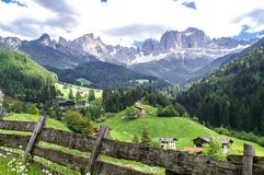 South Tyrolean mountain landscape Stock Photography