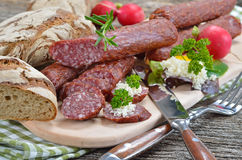 South tyrolean snack Stock Photo