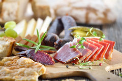 South Tyrolean snack royalty free stock image
