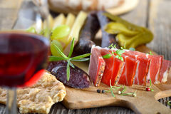 South Tyrolean snack Stock Image