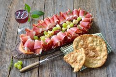 South Tyrolean snack stock photography