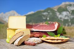 South Tyrolean specialties stock images