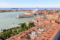 South of Venice with Santa Maria della Salute and Dorsoduro royalty free stock photo