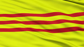 South Vietnam Micronation Close Up Waving Flag stock video footage