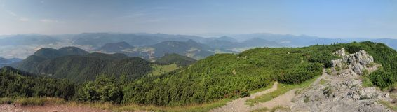 South view from mountain of Velky Choc Royalty Free Stock Image