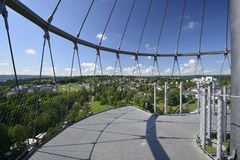 South view from the park tower, Stuttgart Stock Photo