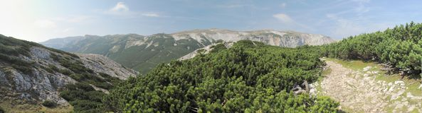 South view from Preiner Wand in Rax Alps Royalty Free Stock Photography