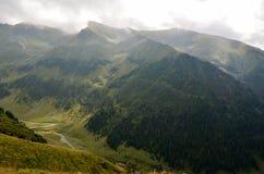 Travel to Romania: South view of Transfagarasan Royalty Free Stock Photos