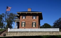 South View of Ulysses S. Grant House. This is a Fall picture of the South View of the historic Ulysses S. Grant house located in Galena, Illinois in Jo Daviess stock photo