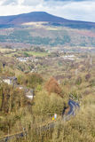 South Wales view towards the Sugar Loaf hill. Monmouthshire. Stock Images